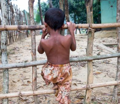 Rohingya child in Bangladesh camp