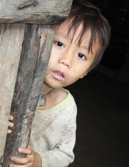 Child in IDP camp in Karen State